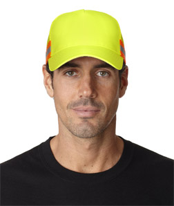 Adams TR102-Trucker Reflector High-Visibility Constructed Cap