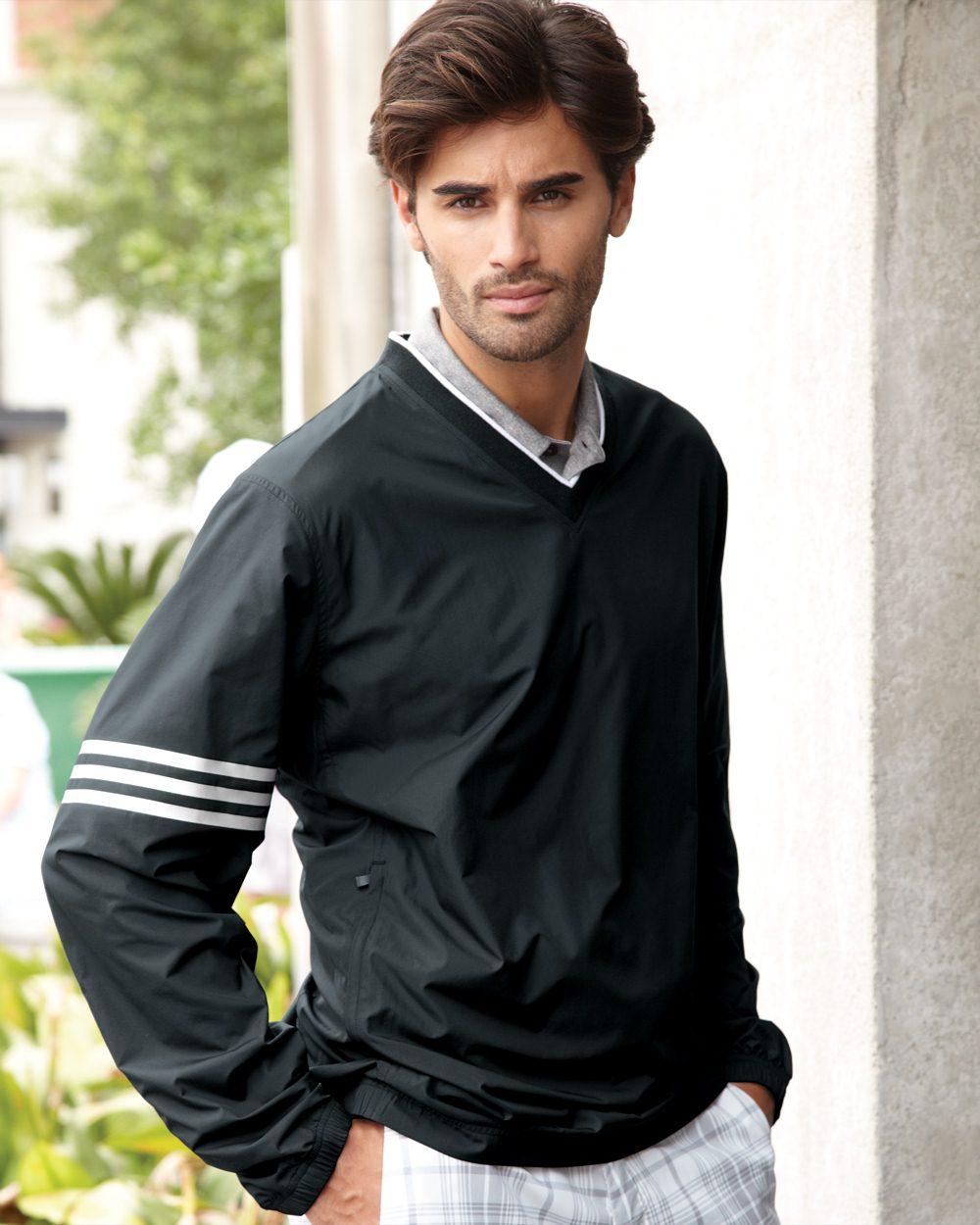 adidas ClimaProof® Colorblock V-Neck Windshirt - A147