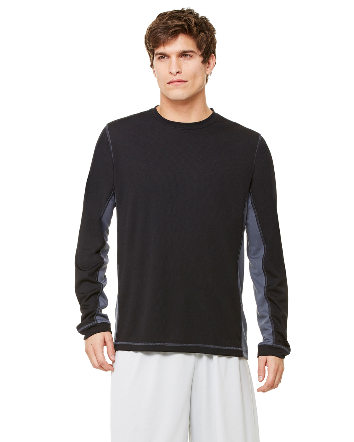 alo M3021 Long Sleeve Stitched Edge T-Shirt