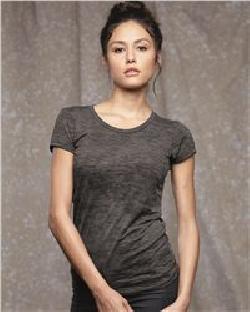 Alternative 12147 Ladies' Burnout Crewneck T-Shirt