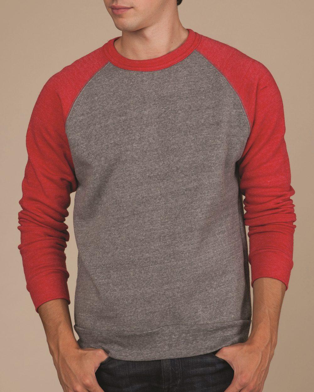 573e34528a501 Alternative 32022 - The Champ Unisex Colorblocked Eco Fleece Crewneck  Sweatshirt