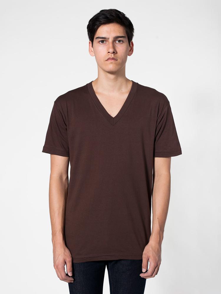 American Apparel 2456 - Fine Jersey Short Sleeve V-Neck Tee