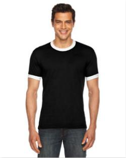 American Apparel - BB410  Unisex Poly-Cotton Short-Sleeve Ringer T-Shirt