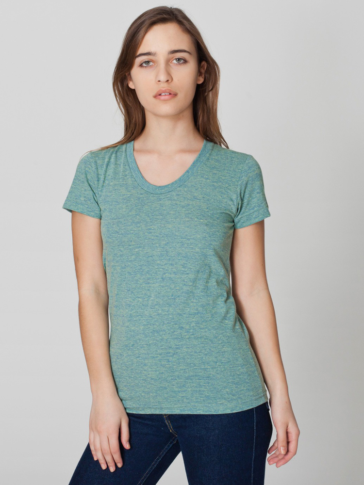 American Apparel TR301 - Womens' Tri-Blend Short-Sleeve Track Tee