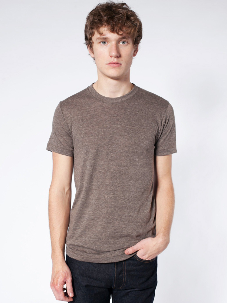 American Apparel TR401 - Unisex Tri-Blend Short-Sleeve Track Tee