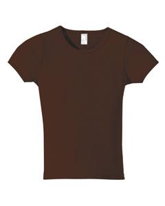 Anvil 1441  Women's 1x1 Ribbed Scoop Neck T-Shirt
