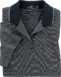 Ash City Jersey 125288 - Ladies' Mini Stripe Fine Jersey Polo