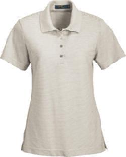 Ash City Pique 125293 - Ladies' Cotton Mini Stripe Polo