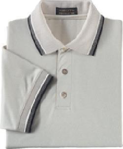 Ash City Pique 225449 - Men's Tri-Color Birdseye Trim Cotton Pique Polo