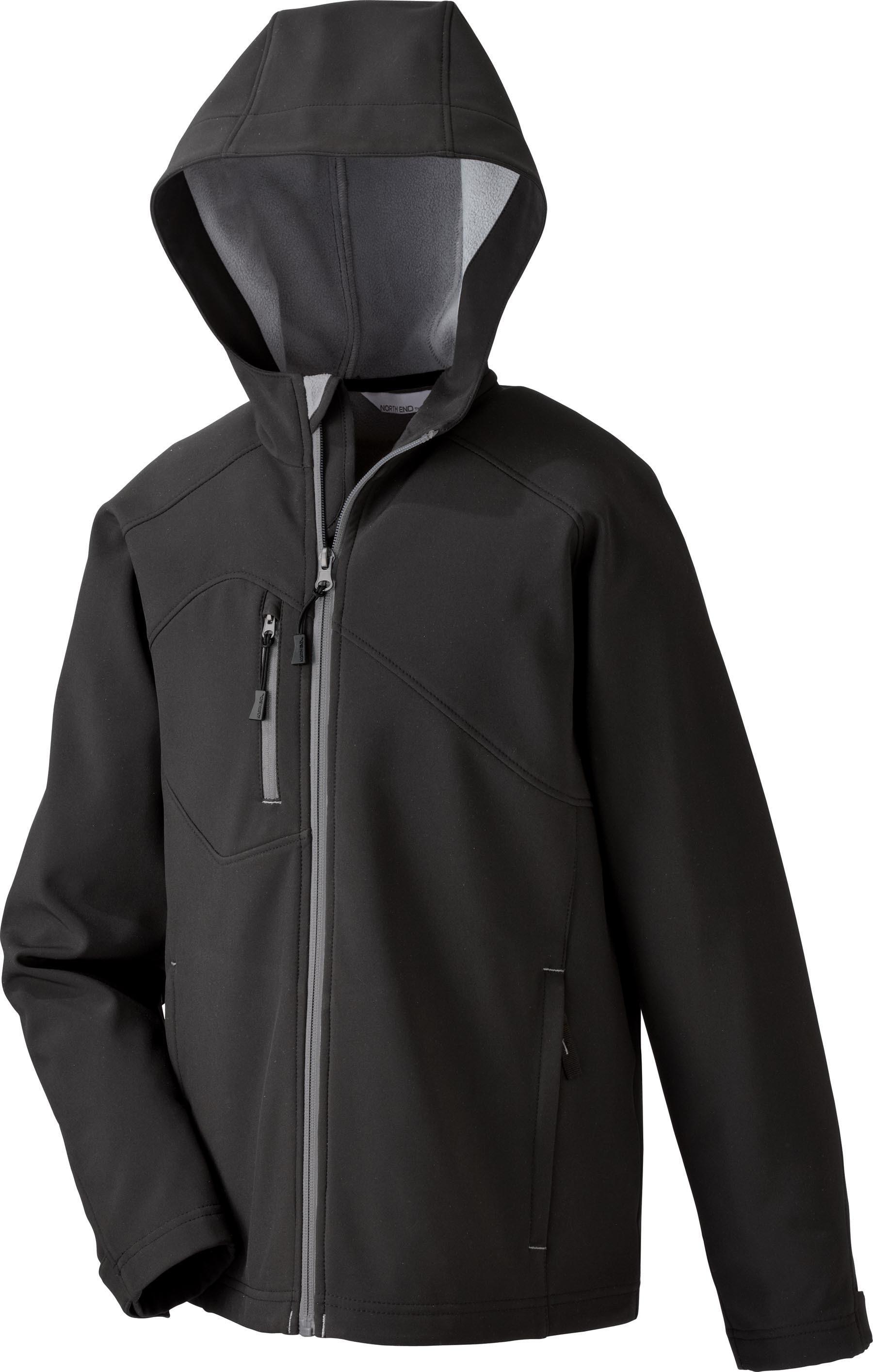 Ash City UTK 1 Warm.Logik 68166 - Prospect Youth Soft Shell Jacket With Hood
