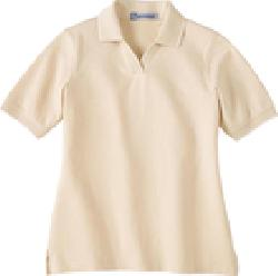 Ash City Jersey 75009 - Ladies' Johnny Collar Jersey Polo With Pencil Stripe