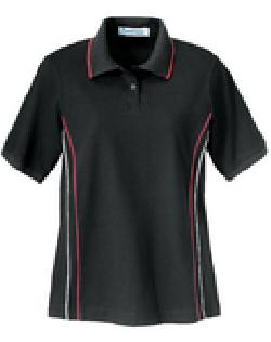 Ash City Jersey 75018 - Ladies' Jersey Golf With Fine Contrast Piping On Side Panels