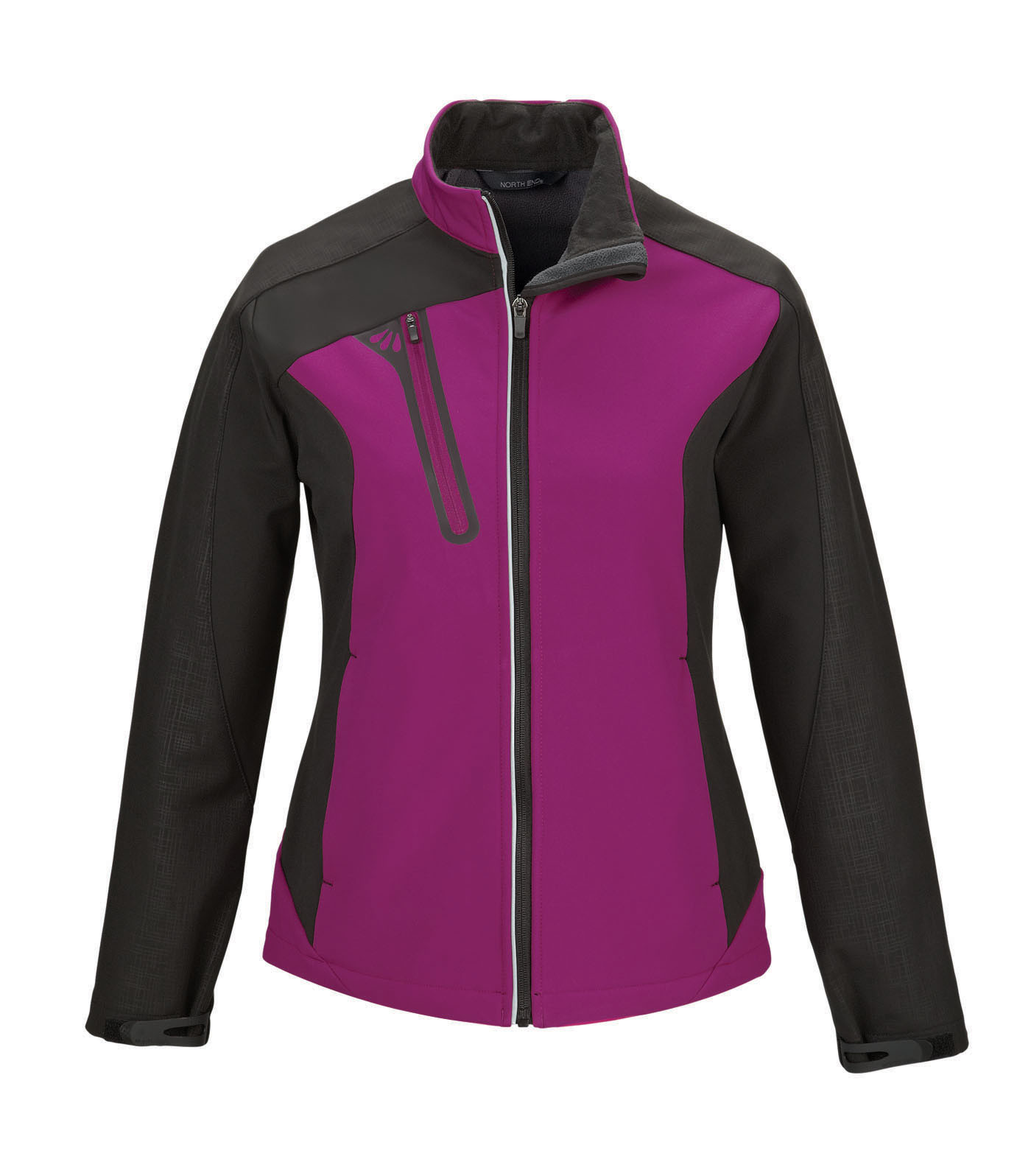 Ash City UTK 1 Warm.Logik 78176 - Terrain Ladies' Color-Block Soft Shell With Embossed Print