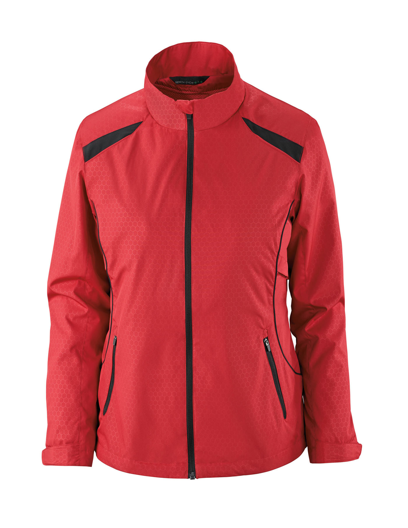 Ash City e.c.o Outerwear 78188 - Tempo Jacket Ladies' Lightweight Recycled Polyester Jacket With Embossed Print