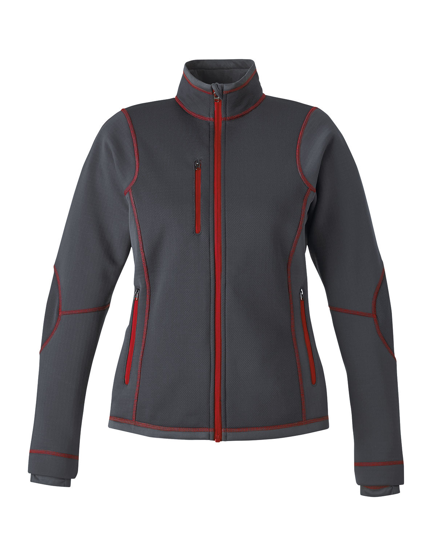 Ash City Bonded Fleece 78681 - Pulse Ladies' Textured Bonded Fleece Jacket With Print