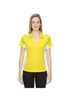 Ash City North End Sport Red 78691 - Ladies' Reflex UTK cool logik Performance Embossed Print Polo