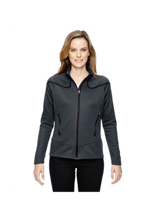 Ash City North End Sport Red 78806 - Ladies' Interactive Cadence Two-Tone Brush Back Jacket