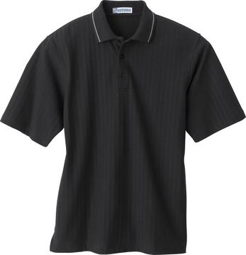 Ash City Textured 85086 - Men's Textured Chevron Polo With Jacquard Welt Collar