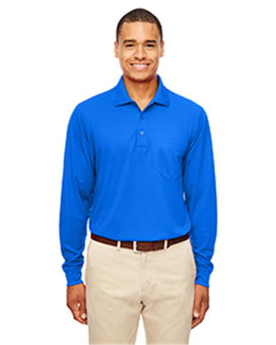 Ash City 88192P - Adult Pinnacle Performance Pique Long-Sleeve Polo with Pocket