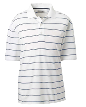 Ashworth 2038C Men's High Twist Cotton Tech Stripe Pol