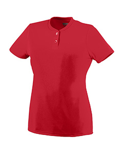 Augusta Drop Ship - 1212 Ladies' Wicking Two-Button Jersey