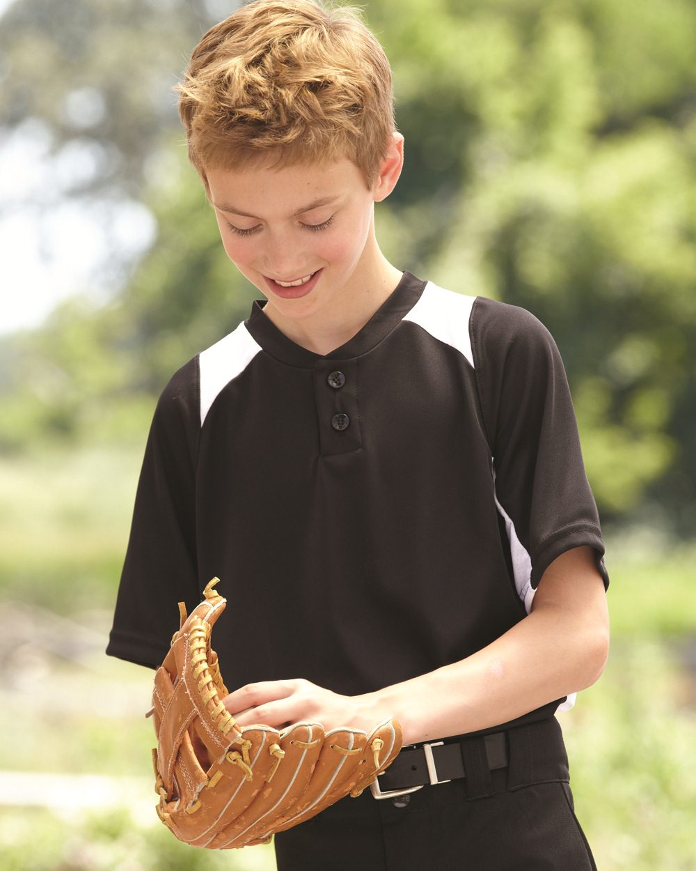 Augusta Sportswear 1521 - Youth Gamer Colorblocked Baseball Henley