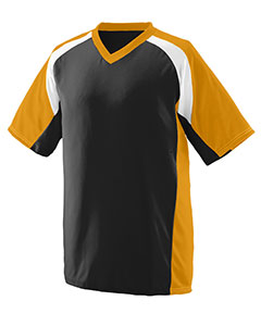 Augusta Sportswear 1536 - Youth Wicking Polyester V-Neck Short-Sleeve Jersey with Inserts