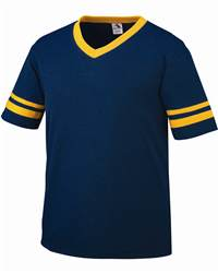 Augusta Sportswear 360 Sportswear V-Neck Jersey with Striped Sleeves