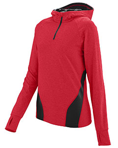 Augusta Drop Ship 4812 - Ladies Wicking Brushed Back Poly Span Quarter Zip Hoody