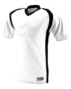 Augusta Drop Ship 9530 - Adult Polyester Diamond Mesh V Neck Jersey with Contrast Side Inserts