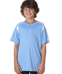 Badger 2937-Youth B-Dry Pro Henley Performance Tee