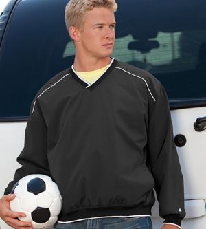 Badger Sport 7601 Windshirt with White Piping and Trim