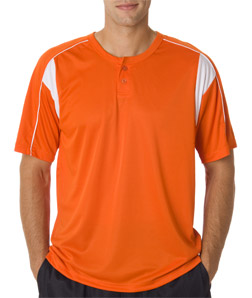 Badger 7937-Adult B-Dry Pro Henley Performance Tee