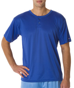 Badger B7930-Adult B-Dry Core Henley Performance Tee
