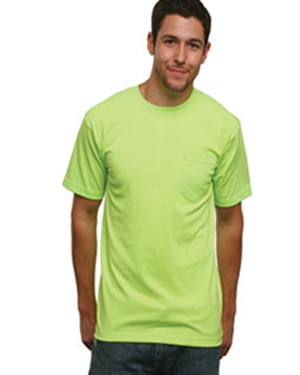 Bayside 1725 50/50 Short Sleeve T-Shirt with a Pocket