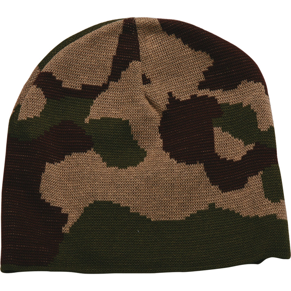 Bayside 3820 Camouflage Knit Beanie