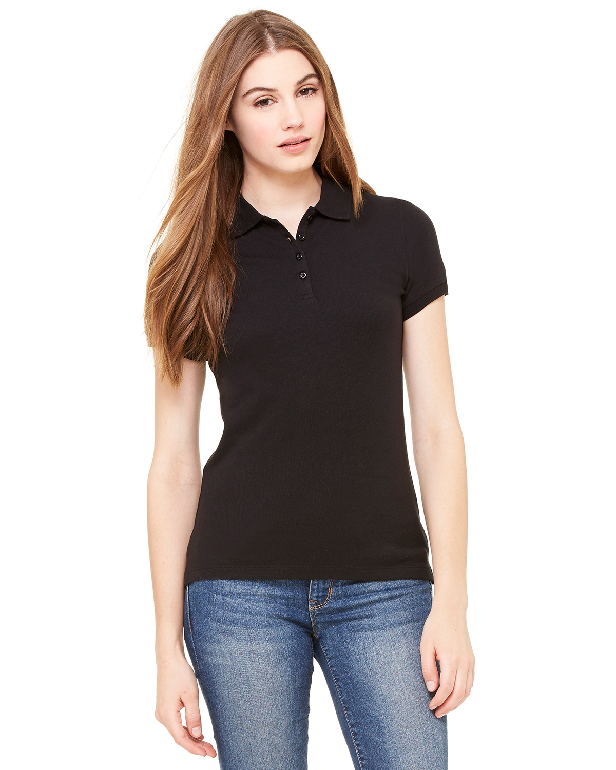 bella 750 Ladies' Mini Pique Short Sleeve Sport Shirt
