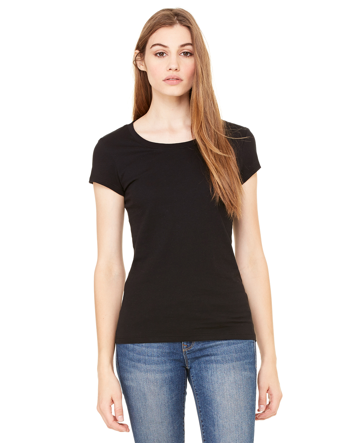 bella 8101 Ladies' Marcelle Sheer Jersey Longer Length T-Shirt