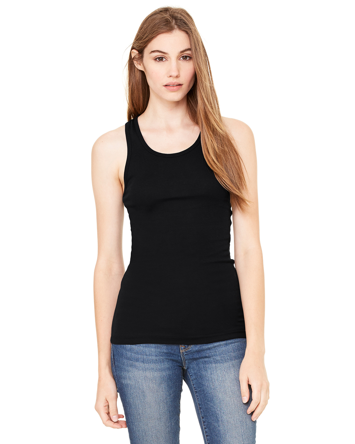 Bella 8770  Women's Sheer Rib Longer Length Racerback Tank