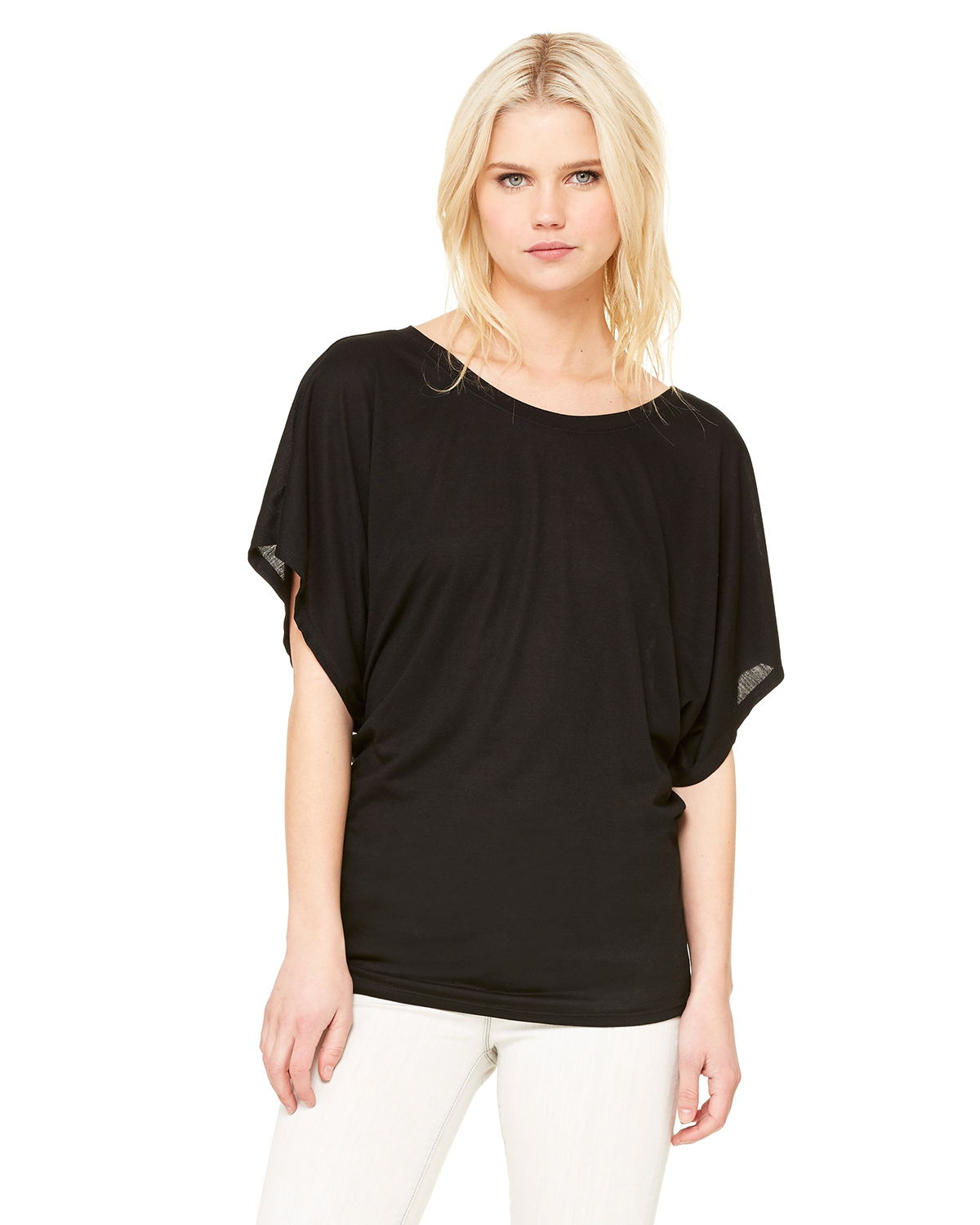 Bella 8821 Ladies 3.7 oz. Flowy Draped Sleeve Dolman T
