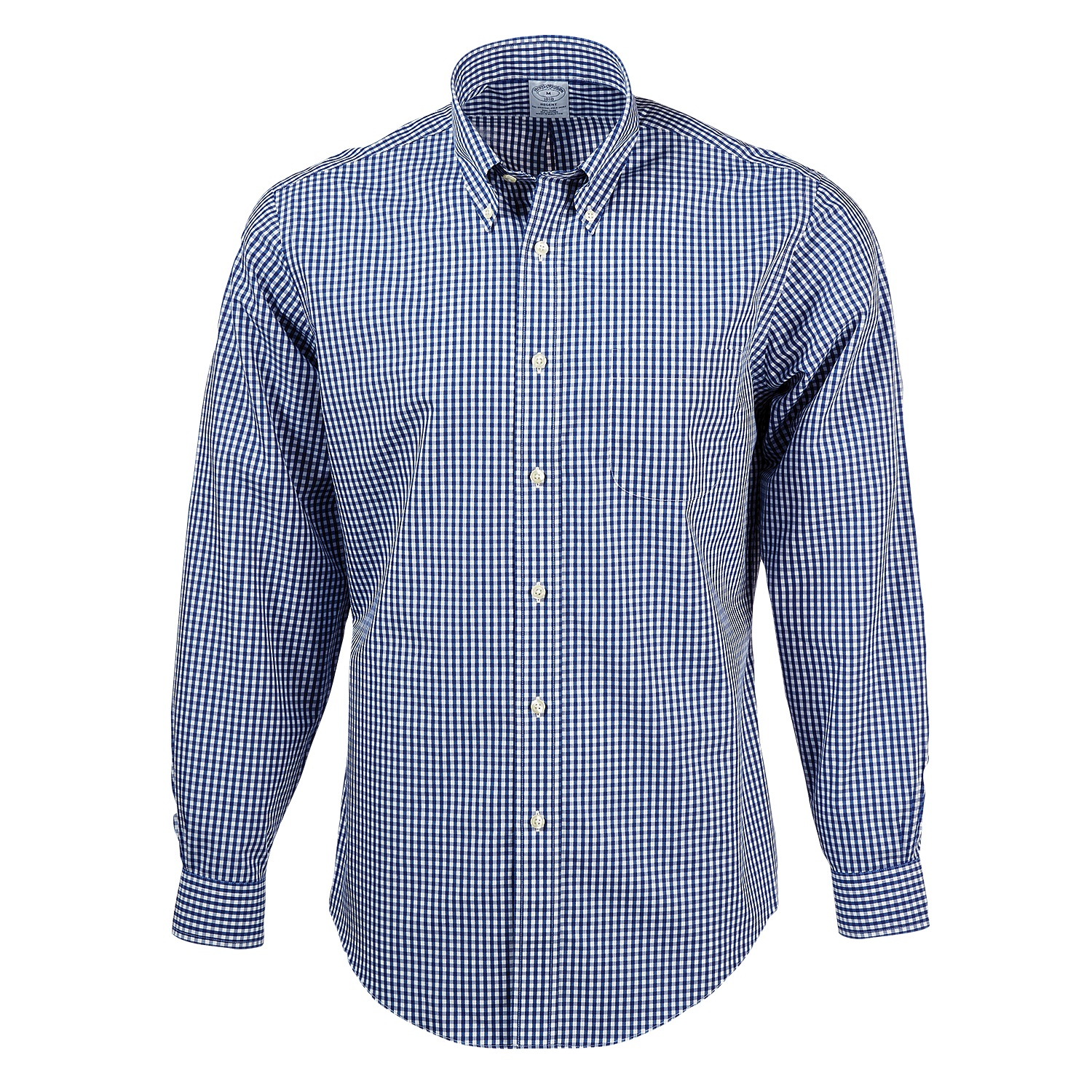 Brooks Brothers BR0731 - Men's Madison Fit Non-Iron Gingham Sport Shirt