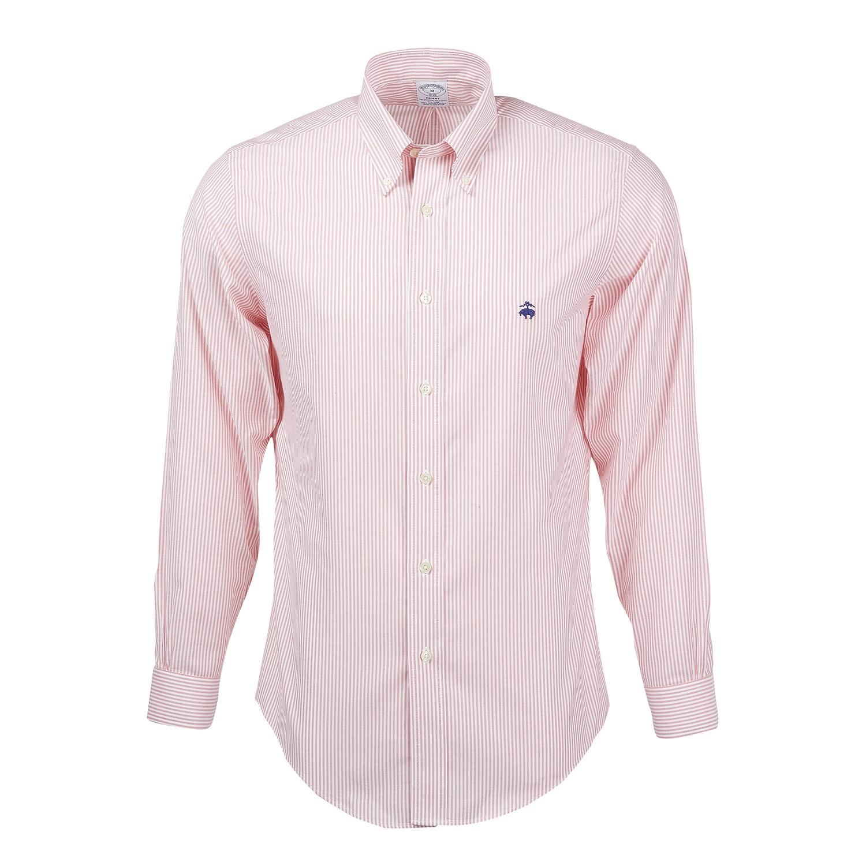 Brooks Brothers BR0732 - Men's Madison Fit Non-Iron Bengal Stripe Oxford Sport Shirt