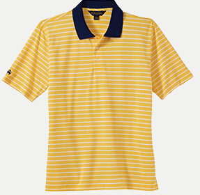 Brooks Brothers BR2109 Uneven Bar Stripe Jersey Polo