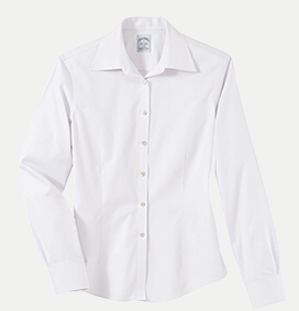 Brooks Brothers BR5142 346 Women's No-Iron Pinpoint Dress Shirt