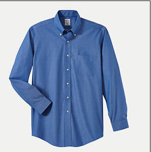 """Brooks Brothers BR620933 346 Slim Fit No-Iron Pinpoint Dress Shirt - 32/33"""" Sleeve"""
