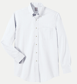 "Brooks Brothers BR621037 346 Regular Fit No-Iron Pinpoint Dress Shirt - 36/37"" Sleeve"