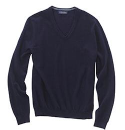 Brooks Brothers SW700 Men's Merino V-Neck Sweater