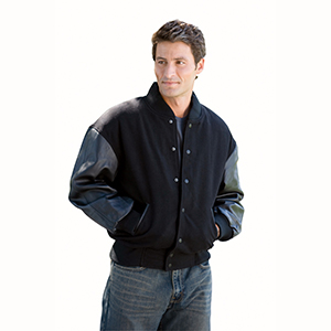 Burk's Bay BB500 Wool and Leather Varsity Jacket