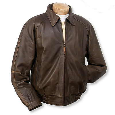 Burk's Bay BB635 - Men's Distressed Classic Full-Zip Jacket