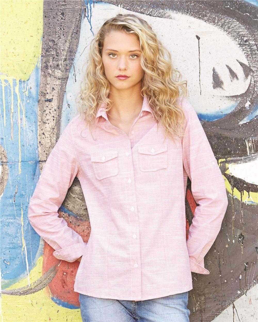 Burnside B5247 - Women's Textured Solid Long Sleeve ...